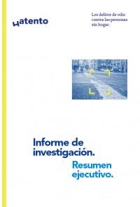 Resumen ejecutivo primera investigación de los delitos de odio contra personas sin hogar (portada informe)